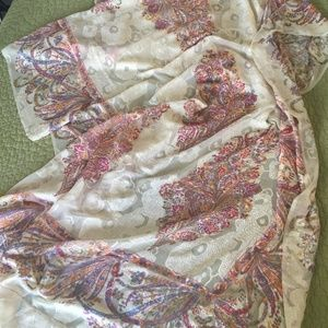 Dyed & Stitched SILK WRAP
